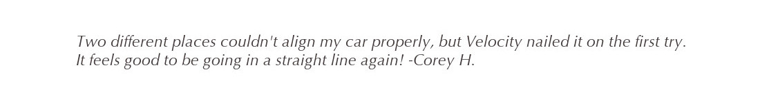 best car alignment testimonial