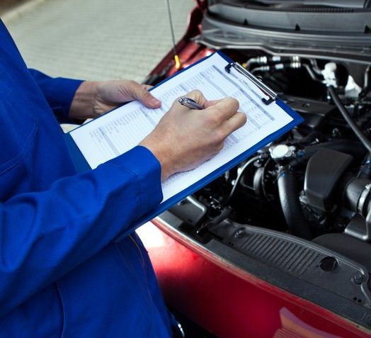 mechanic and car inspection checklist